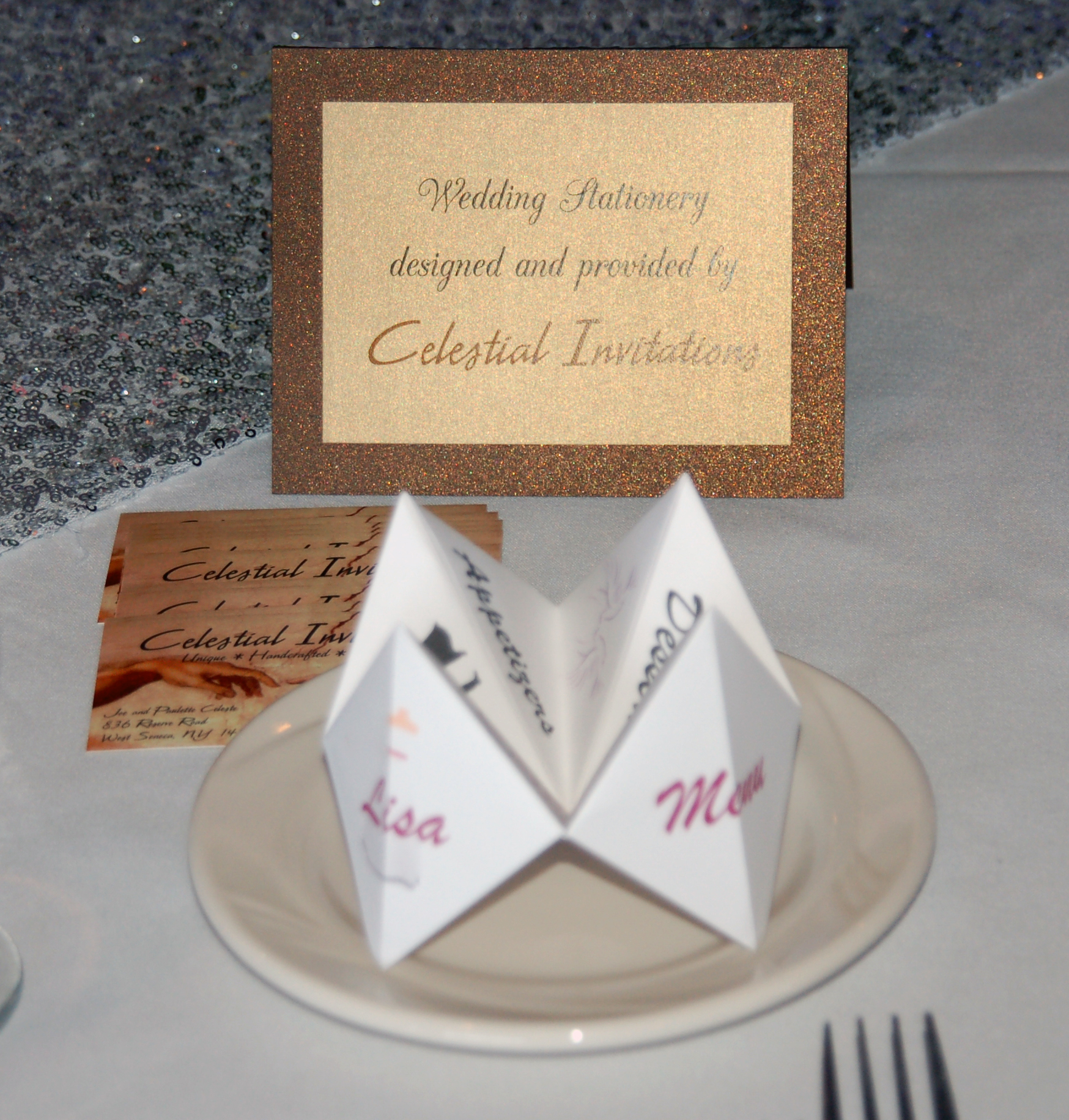 Cootie Catcher Menu