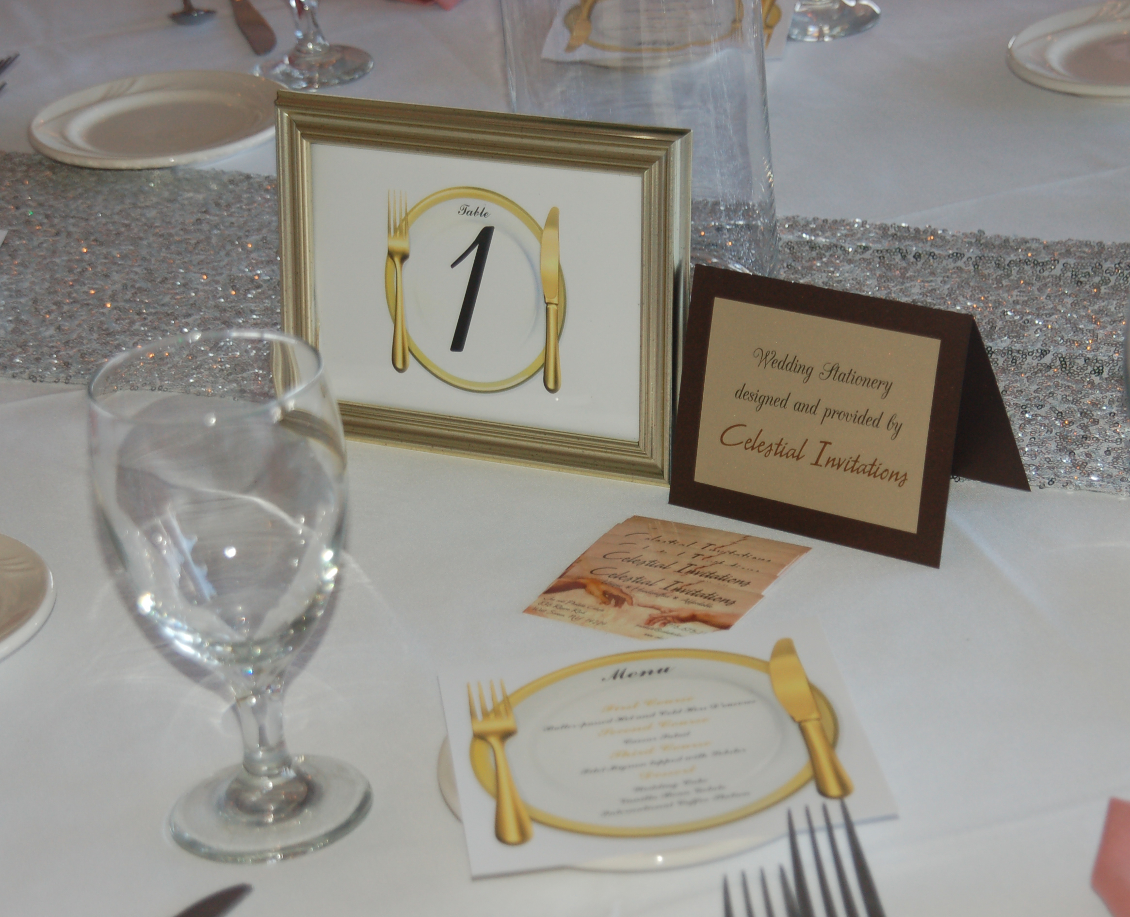 Table 1 Sign & Menu