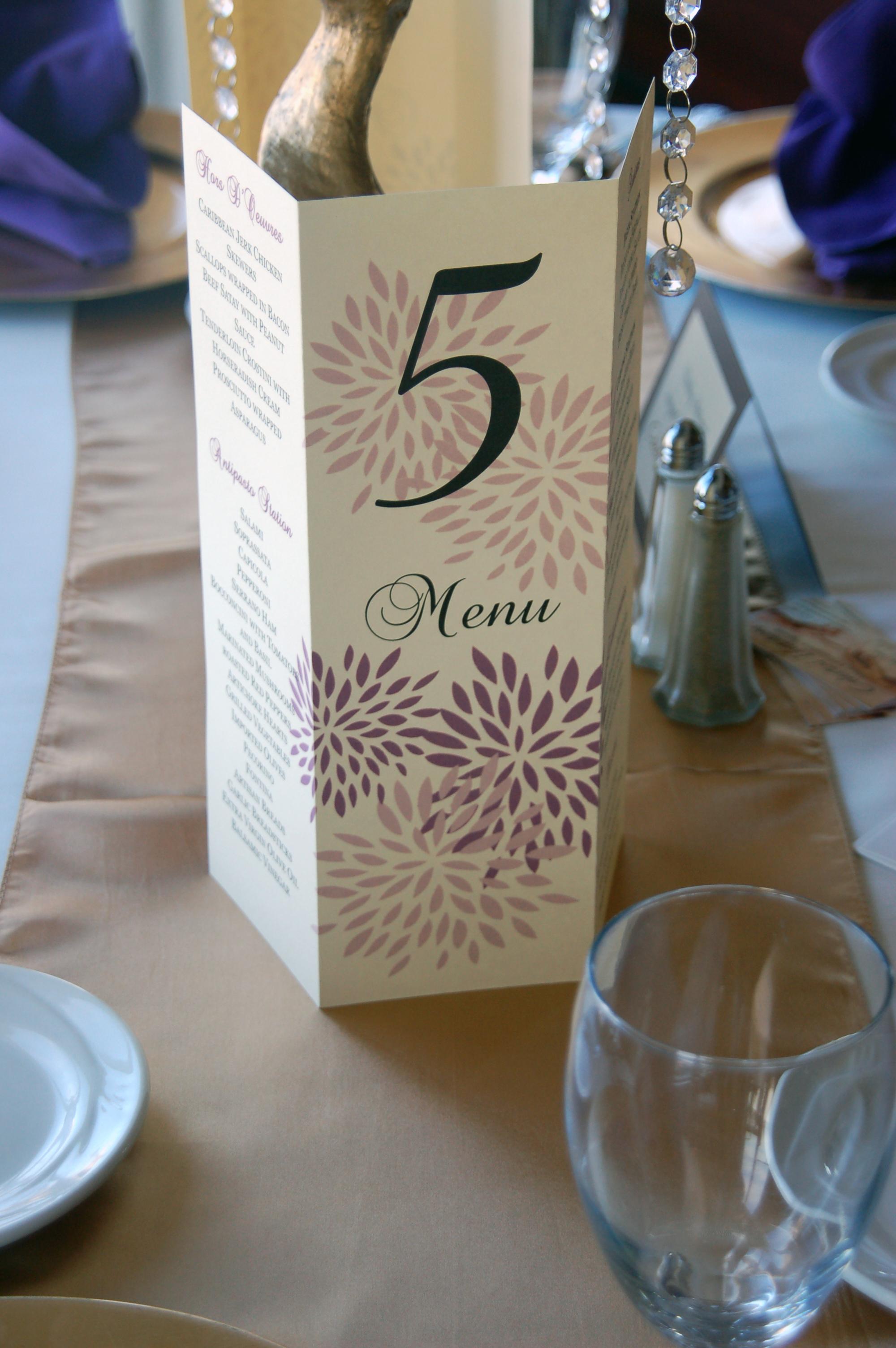 Table 5 Sign & Menu