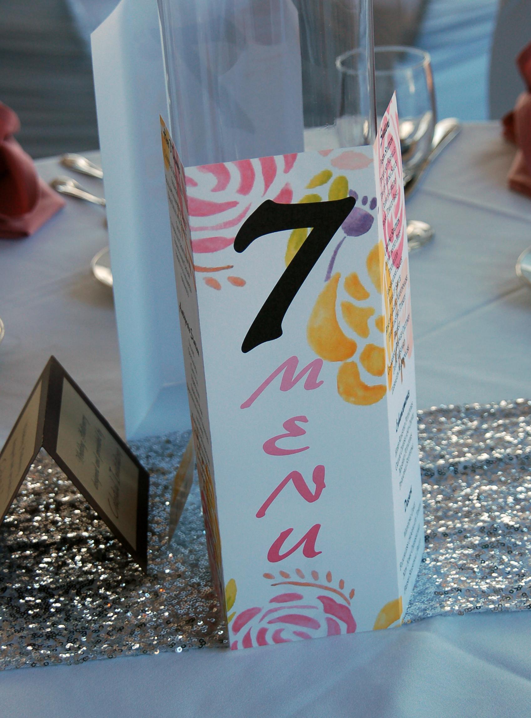 Table 7 Sign & Menu